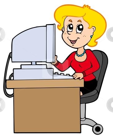 cartoon secretary stock vector