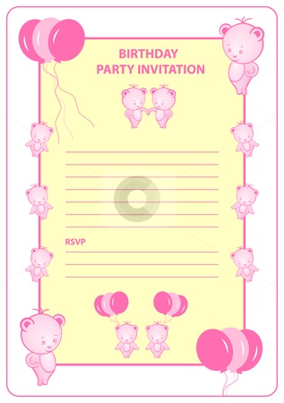 birthday party invites for girls. Girls birthday party