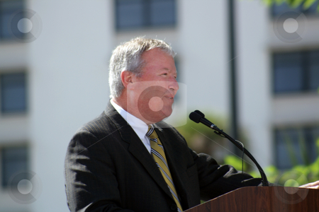 Mayor of Orlando, Florida, Buddy Dyer stock photo, Orlando mayor Buddy Dyer speaking at a recent outdoor event.  Editorial use only. by Carl Stewart
