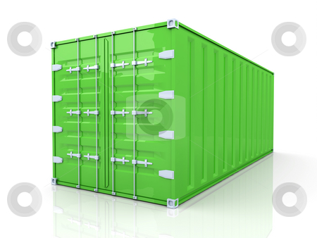 Container stock photo, 3D rendered Illustration. by Michael Osterrieder