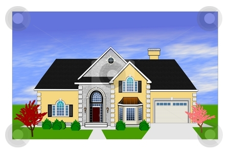 Home rendering stock photo, An illustration of Luxurious Florida home rendering by Sreedhar Yedlapati
