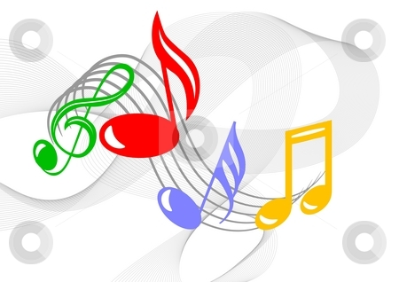 Colorful music notes  stock photo, Colorful music notes by Sreedhar Yedlapati