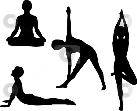 Yoga stock vector clipart, Yoga by Desislava Draganova