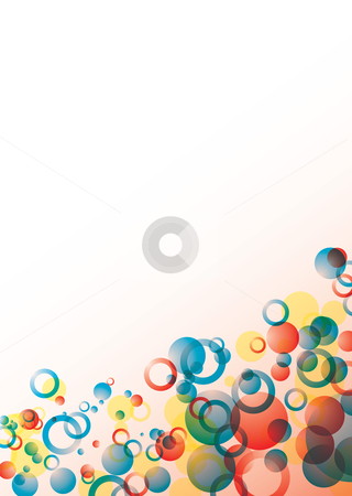 Bubble float red stock vector clipart, Abstract red and blue circular background with room for text by Michael Travers