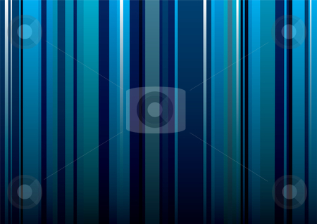 Wallpaper stripe blue stock vector clipart, Abstract blue shades stripe background ideal desktop or wallpaper by Michael Travers