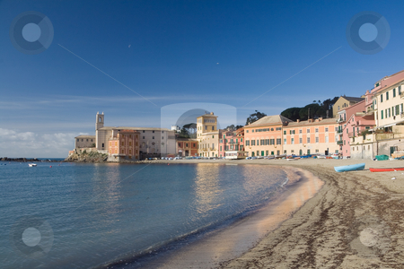Baia del silenzio, Sestri Levante stock photo, Panoramic view of Silence bay in Sestri Levante, famous small town in Liguria, Italy by ANTONIO SCARPI