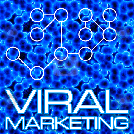 Viral Marketing Diagram stock photo, An illustration or diagram demonstrating viral marketing with 3D cells and a flow chart. This image tiles seamlessly as a pattern in any direction. by Todd Arena