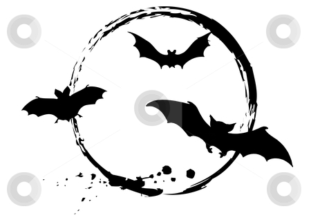 Halloween bats stock vector clipart, Grungy halloween bats, vector by Beata Kraus