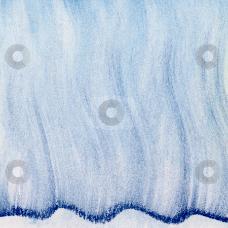Blue wavy pastel abstract stock photo, Blue wavy abstract background - vertical smudges of soft pastel crayons on white paper by Marek Uliasz