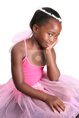 Halloween Fairy stock photo, Young girl wearing a pink fairy costume with accessories by Vanessa Van Rensburg