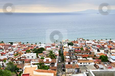 Puerto Vallarta, Mexico stock photo, View of rooftops and Pacific ocean in Puerto Vallarta, Mexico by Elena Elisseeva