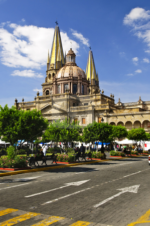 Guadalajara Cathedral in Jalisco, Mexico stock photo, View of the Cathedral from Zocalo in historic center in Guadalajara, Jalisco, Mexico by Elena Elisseeva