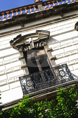 Window on Mexican building stock photo, Window on building in downtown Guadalajara, Jalisco, Mexico by Elena Elisseeva