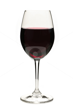 Red wine in glass stock photo, Red wine in wineglass isolated on white background by Elena Elisseeva