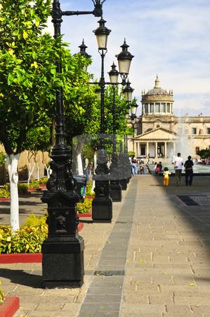 Plaza Tapatia leading to Hospicio Cabanas in Guadalajara, Jalisco, Mexico stock photo, Plaza Tapatia leading to Hospicio Cabanas in historic Guadalajara center, Jalisco, Mexico by Elena Elisseeva