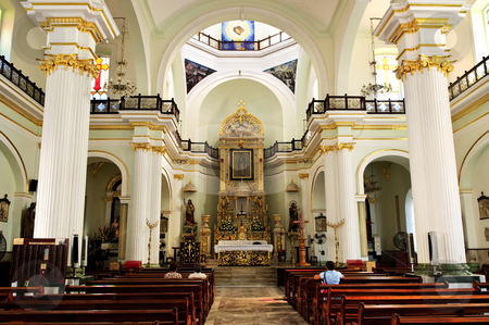 Church interior in Puerto Vallarta, Jalisco, Mexico stock photo, Our Lady of Guadalupe church interior in Puerto Vallarta, Jalisco, Mexico by Elena Elisseeva