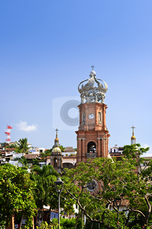 Church in Puerto Vallarta, Jalisco, Mexico stock photo, Our Lady of Guadalupe church in Puerto Vallarta, Jalisco, Mexico by Elena Elisseeva