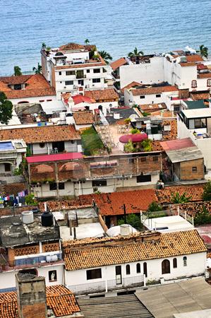 Rooftops in Puerto Vallarta, Mexico stock photo, View from above at rooftops in old Puerto Vallarta, Mexico by Elena Elisseeva