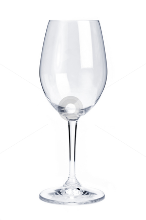 Empty red wine glass stock photo, Empty red wine glass isolated on white background by Elena Elisseeva