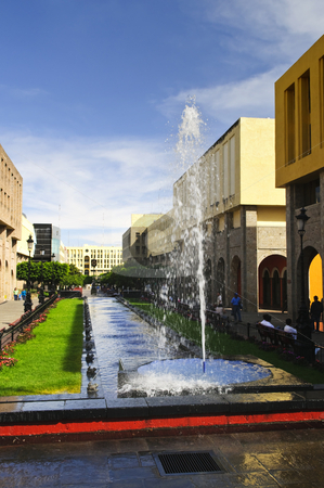 Plaza Tapatia with fountain in Guadalajara, Jalisco, Mexico stock photo, Plaza Tapatia with fountain in historic Guadalajara center, Jalisco, Mexico by Elena Elisseeva