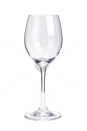 Empty white wine glass stock photo, Empty white wine glass isolated on white background by Elena Elisseeva