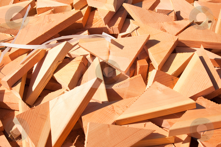Pile of Building Lumber Scraps stock photo, Pile of Building Lumber Scraps at Construction Site. by Andy Dean