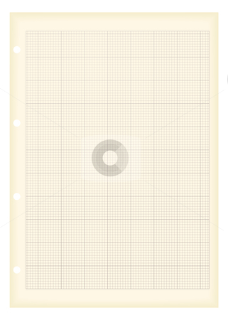 Grunge a4 graph paper stock vector clipart, Sheet of a4 graph paper with aged grunge illustration effect by Michael Travers