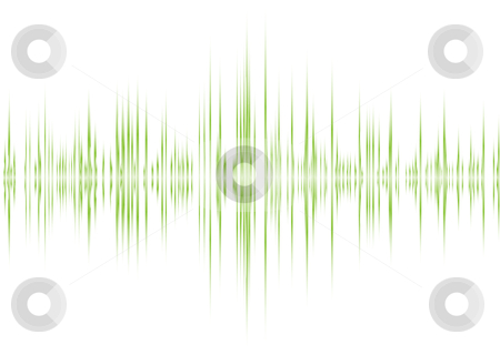 Alpha green beet stock vector clipart, Music graphic equaliser inspired background in green and white by Michael Travers
