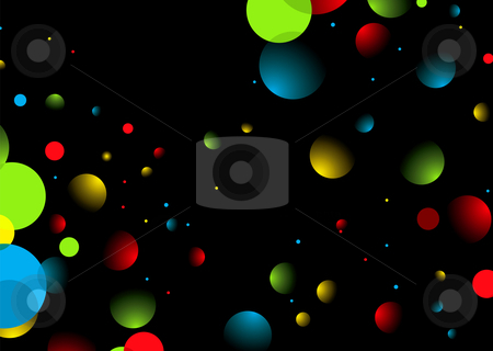 Space dust stock vector clipart, Abstract space background with bright colors and space for text by Michael Travers