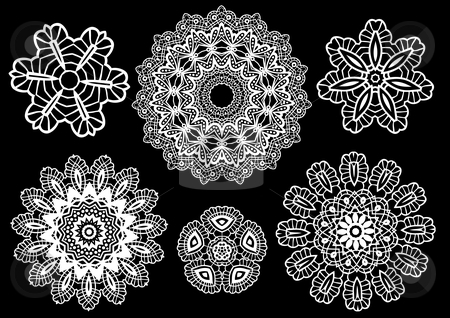 Delicate lace doilies stock vector clipart, Delicate lace doilies, vector pattern by Beata Kraus