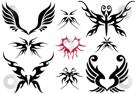 Set of tattoos