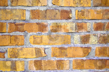 Brick wall stock photo, Brick wall of a house as a background by Gunnar Pippel