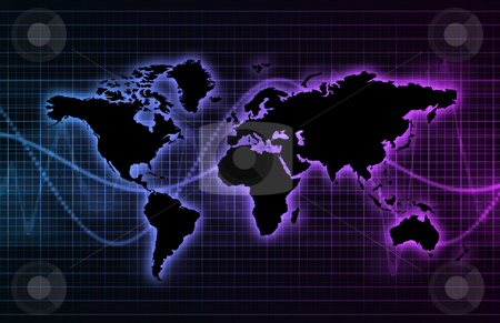 Global Connection Network stock photo, Global Connection Network Background As a Art by Kheng Ho Toh