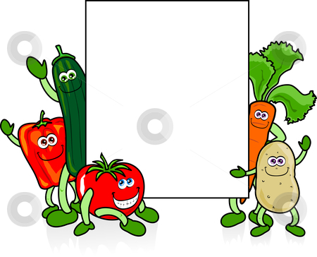 vegetables and white sign stock vector clipart merry vegetables