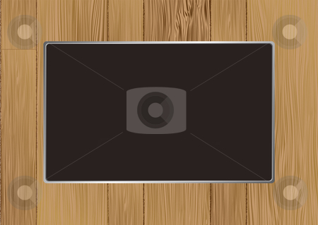 Wooden picture frame stock vector clipart, Abstract wooden picture frame with room for your own image by Michael Travers
