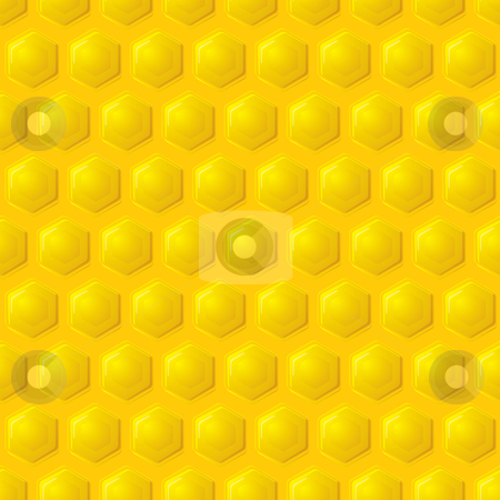 Gold honeycomb background stock vector clipart, Golden honeycomb seamless wallpaper pattern design concept by Michael Travers