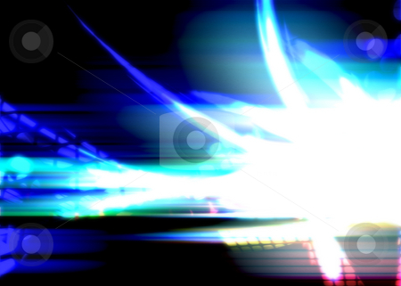 Bright Glowing Plasma stock photo, Bright blue glowing swoosh fractal design that works great as a background or backdrop. Plenty of copyspace for your text. by Todd Arena
