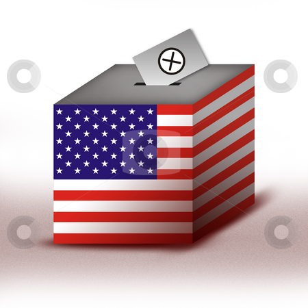 Ballot Box stock photo, President of the USA - Ballot Box by Seeni Vasagams