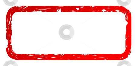 Used red stamp stock photo, Used red stamp isolated on white background with copy space. by Martin Crowdy