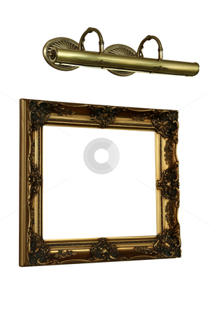 Frame for pictures stock photo, Frame for pictures on a white background by Dmitry Skutin