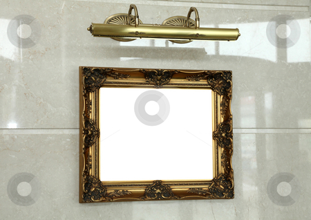 Frame for pictures stock photo, Empty frame on the wall for painting by Dmitry Skutin