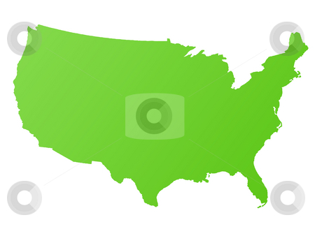 Map of America stock photo, Map of America or USA, isolated on white background. by Martin Crowdy