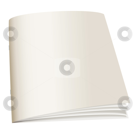 Paper back book stock vector clipart, Illustrated paper back book with fan pages and shadow by Michael Travers