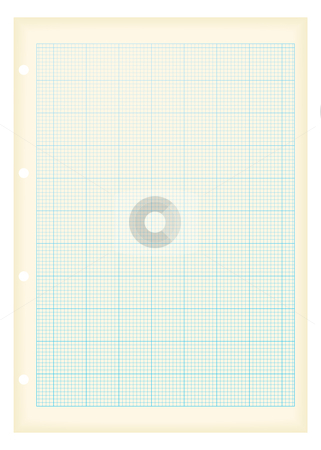 Grunge a4 graph paper blue stock vector clipart, Blue grid graph paper ideal maths background with grunge effect by Michael Travers
