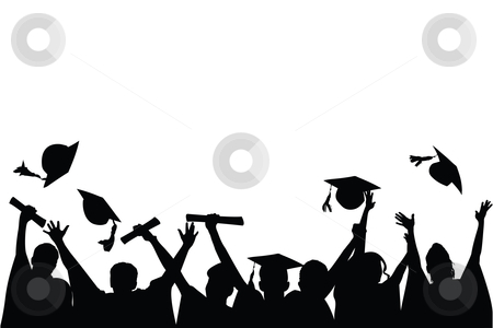Graduation Celebration stock vector clipart, Vector illustration of a ...
