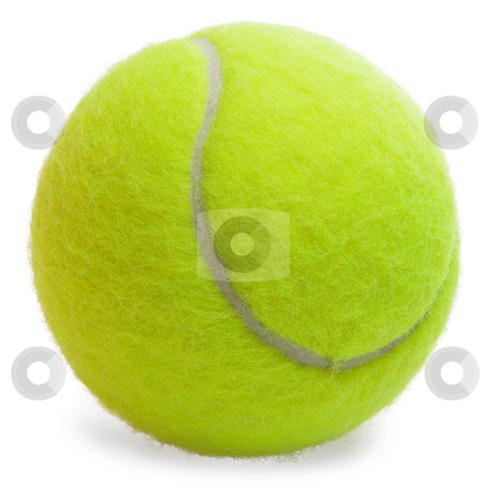 Tennis Ball isolated stock photo, Tennis Ball isolated on the white background by Sergey Ochkasov