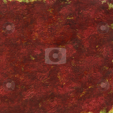 Red painted abstract background stock photo, Red patchy watercolor painted abstract on artist canvas, self made by photographer by Marek Uliasz