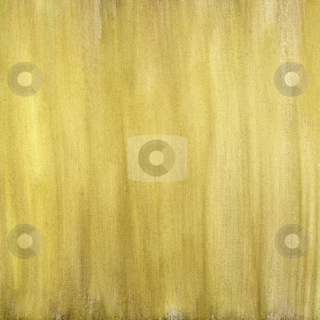 Yellow brown painted abstract  stock photo, Yellow and brown  watercolor painted abstract on artist canvas, vertical smudge pattern, self made by photographer by Marek Uliasz