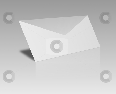 Envelope stock photo, Black and white envelope on gray background by Henrik Lehnerer