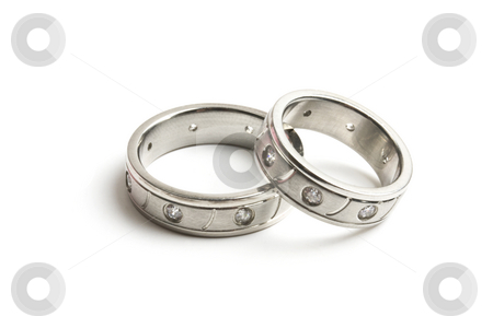 Wedding rings stock photo, His and hers wedding rings by Ingvar Bjork